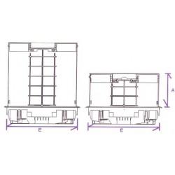745-4 CI Люк для пола на 4 механизма розеток 45х45  серого цвета