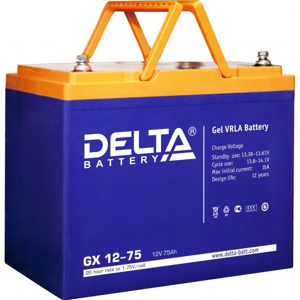 Аккумулятор для ИБП Delta Battery GX, 166х258х215 (ШхГхВ), необслуживаемый электролитный, цвет: синий, (GX 12-75) цены опт и розница скидки
